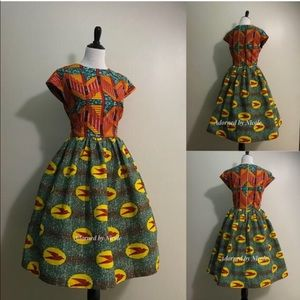 African Print Dress: Sparrows